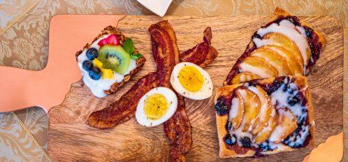 Magpie Inn - Food - Brunch board top-down shot