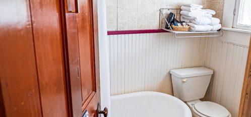 Magpie Inn - Room 1 - Bathroom - View from door