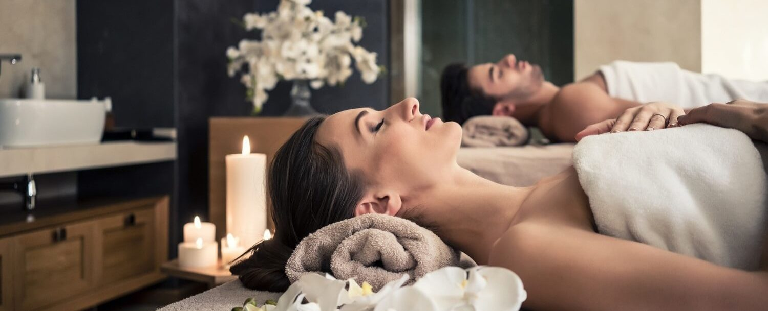 spa getaway with a couple